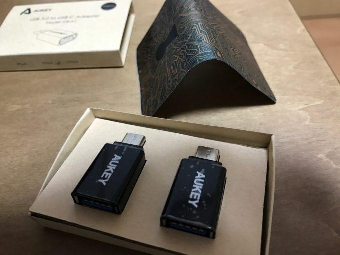 AUKEY USB Type C 変換アダプタ 2個セット