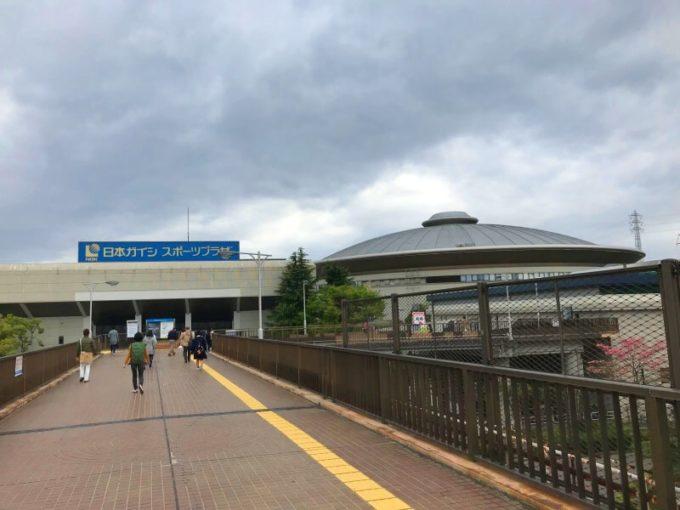 JR笠寺駅を出たところ。