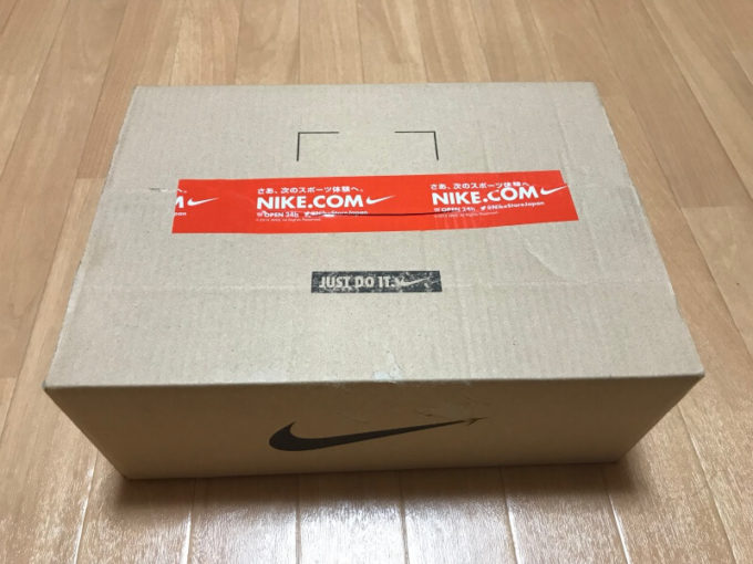 SNKRSアプリでナイキスニーカーを購入して届いた箱の梱包状態