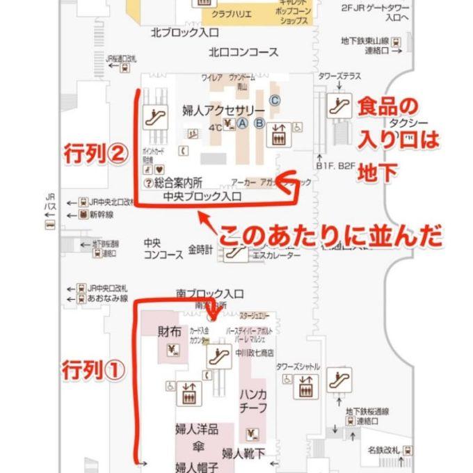 名古屋高島屋 初売り福袋の並び場所