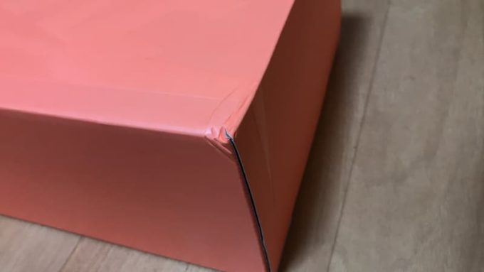 NIKE AIR SKYLON 2 FEAR OF GOD(ナイキ エアスカイロン2 フィアオブゴッド)の箱にあったダメージ