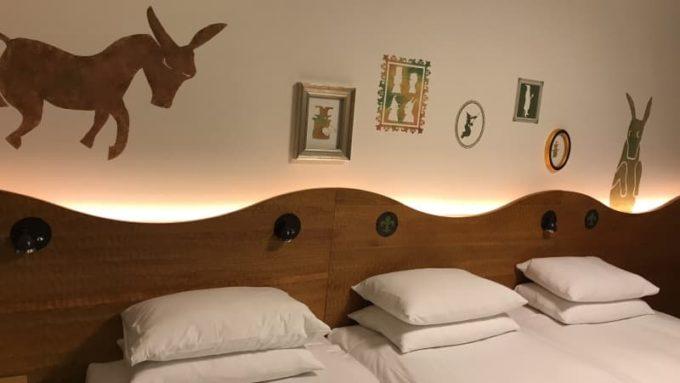 ヒルトン東京ベイのハッピーマジックルームのベッド