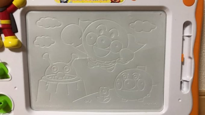 アンパンマン お絵かきボード 天才脳らくがき教室 なぞって書けるキャラクターシート