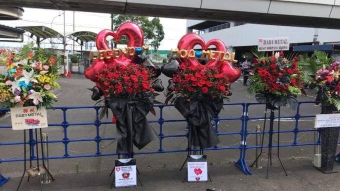 BABYMETAL ライブ ポートメッセなごや MOAMETALの誕生日を祝うスタンドフラワー