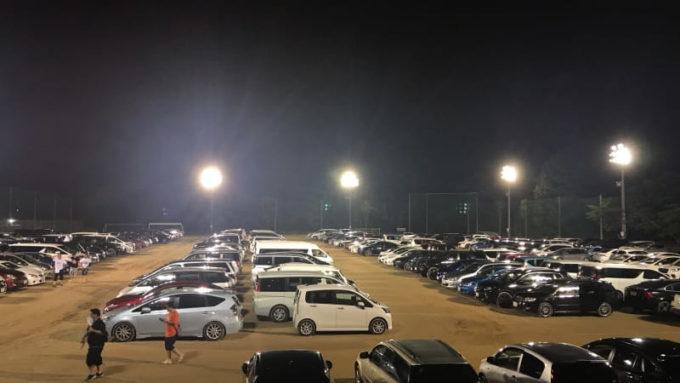 sekigahara idolwars 2019 関ケ原唄姫合戦2019の駐車場の様子