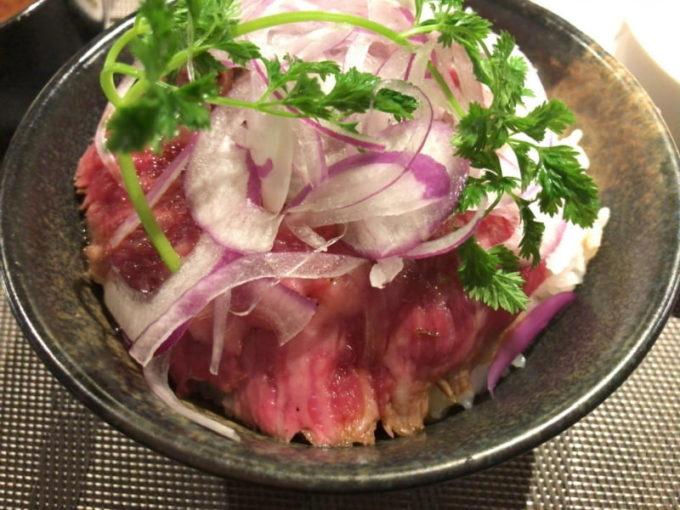 大須 五代目橋本のランチ 赤身タタキ丼