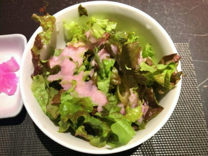 大須 五代目橋本 ランチのサラダ