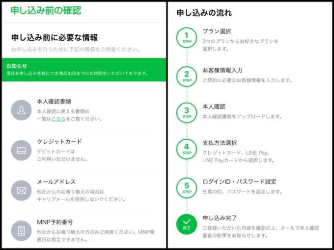 LINEモバイルでMNP転入する方法 申し込み方法