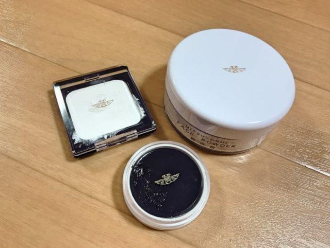 白塗りメイク(コープスペイント)に使う化粧品 三善のクラウンカラーとライニングカラーと粉白粉