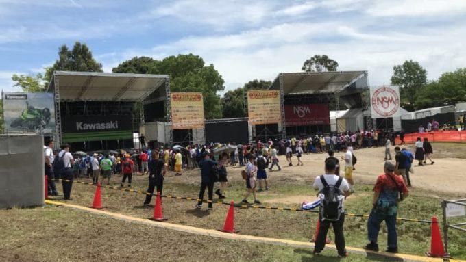 SYACHI FES しゃちフェス 2018 KawasakiステージとNSMステージの様子