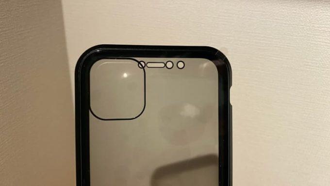 リスカイ スカイケース iPhoneの背面カメラ部分