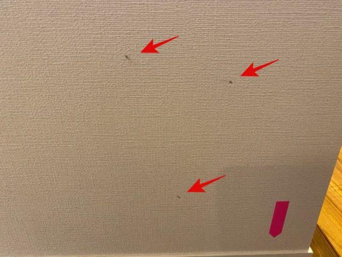 新築 施主検査のチェック箇所 クロス(壁紙)の汚れ