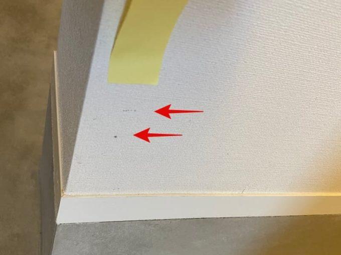 新築 施主検査のチェック箇所 クロス(壁紙)の傷