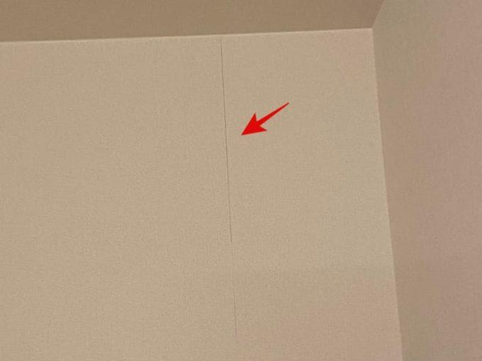 新築 施主検査のチェック箇所 壁紙(クロス) 継ぎ目の隙間