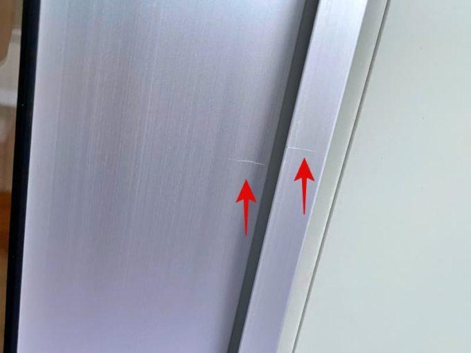 新築 施主検査のチェック箇所 サッシの傷