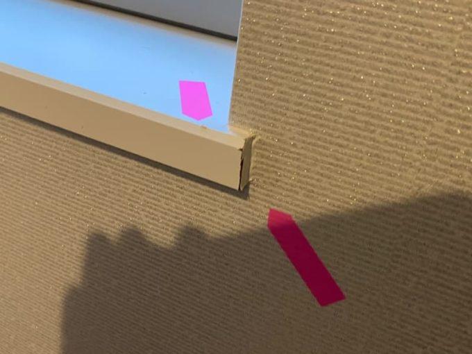 新築 施主検査のチェック箇所 窓枠の仕上げ不足