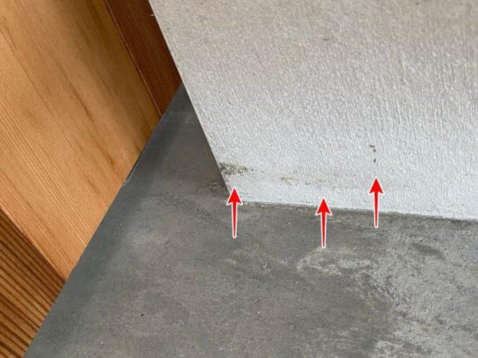 新築 施主検査のチェック箇所 塗り壁の汚れ