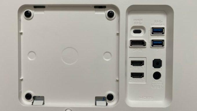 LG 27UK850-Wの背面 接続端子