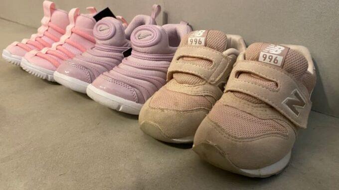 ナイキとニューバランスの子供靴 サイズ感を比較