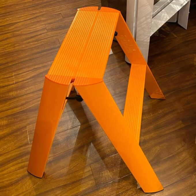 ルカーノ(lucano)ワンステップ オレンジ 脚立 踏み台