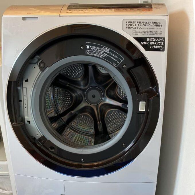 日立 ドラム式洗濯機(ビッグドラム) ドア下がり対策部品の扉に交換